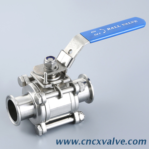 Sanitary Hygienic 3 Piece Tri-clamp Ball Valve