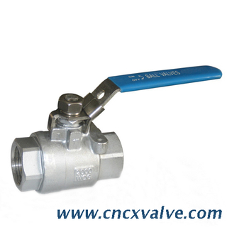 2 Piece 2000 WOG Stainless Steel Full Ball Valve