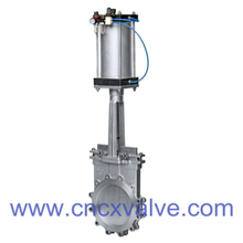 Pneumatic operated wafer type knife gate valve