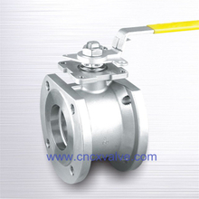 Wafer Type Ball Valve With Direct Mounting Pad