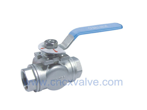 3Way Ball Valve With Direct Mounting Pad