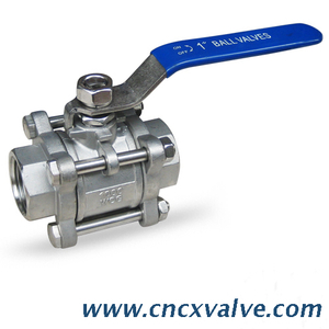3PC Body Screwed End Ball Valve