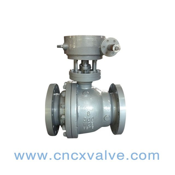2PC Flanged Floating Ball Valve with Gear Operated