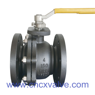 2PC Flanged A216WCB Floating Ball Valve