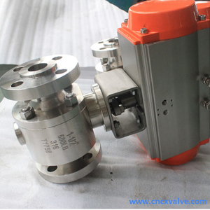 Forged Body Trunnion Mounted Ball Valve with Actuator