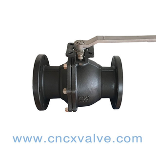 High quality 2PC Ball Vale Flanged End With Direct Mounting Pad ASME 150LBS